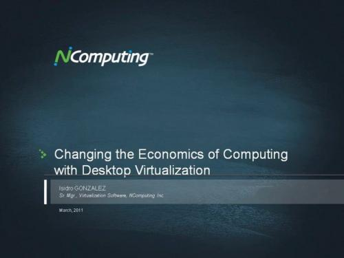 Changing the economics of computing with desktop virtualization.